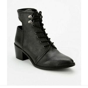 Ecote cutout lace up booties